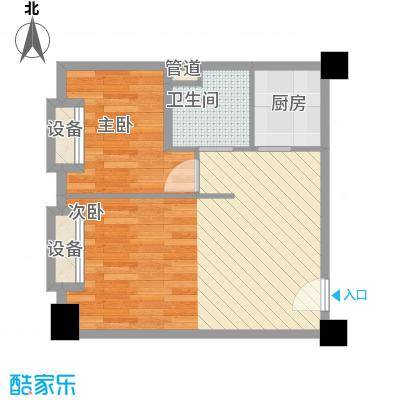 海吉星星世界97.39㎡一期公寓标准层D、E户型