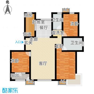 松江东湖小镇132.00㎡洋房标准层D户型