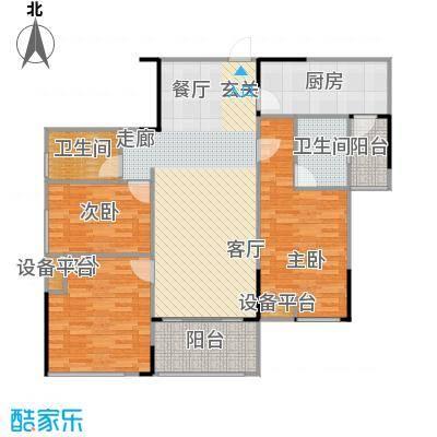 佛奥俊贤雅居119.36㎡18、19号楼面积11936m户型