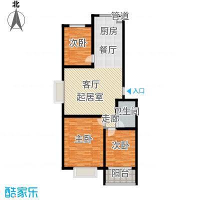 楚天书香门第111.03㎡面积11103m户型