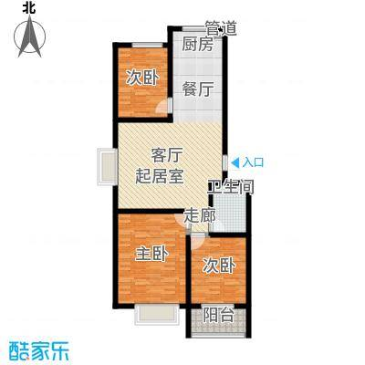 楚天书香门第110.40㎡面积11040m户型