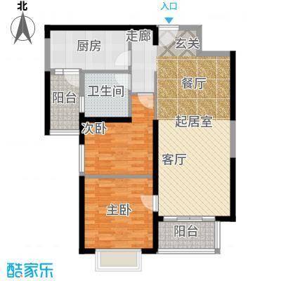 恒大绿洲87.00㎡25号楼1单元022室户型