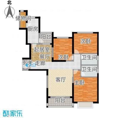 恒大绿洲136.02㎡12#1单元2-22层073室户型