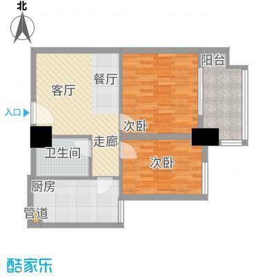 裕亚俊园65.94㎡A9a面积6594m户型