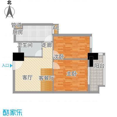 裕亚俊园68.46㎡A91面积6846m户型