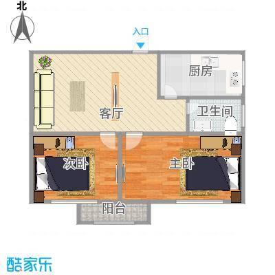 槐荫苑10号1单元中户48.89平米
