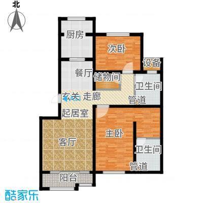荣馨园123.71㎡一期高层标准层C2户型