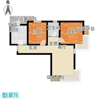 滨海智谛山93.95㎡二期18号楼标准层风逸户型