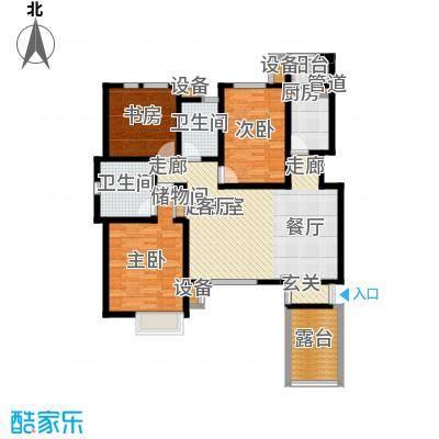 世嘉122.49㎡洋房37、38号楼二层H3户型