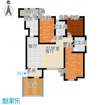 世嘉127.78㎡洋房37、38、39、41号楼二层H6户型