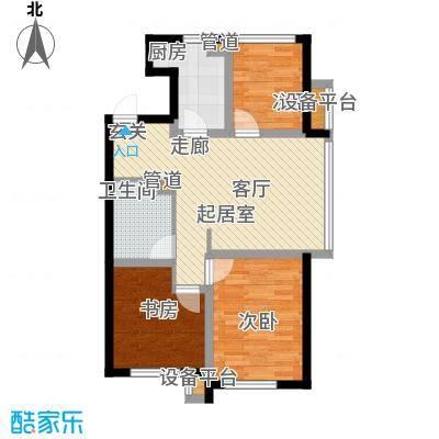 凤河孔雀城146.00㎡高层标准层A3户型