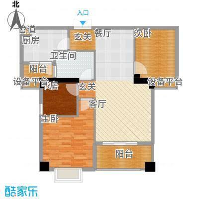 景江御水天成107.44㎡B面积10744m户型