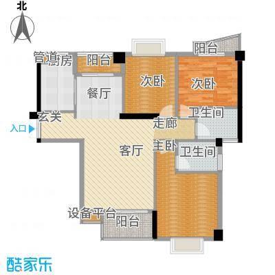 景江御水天成128.03㎡E面积12803m户型