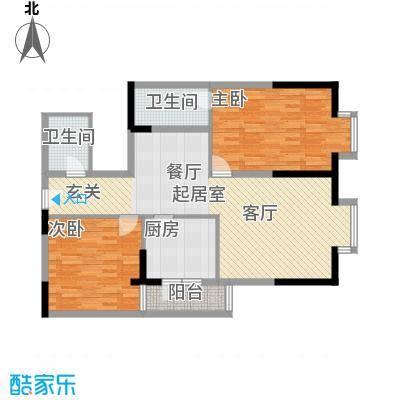 闽东国际城98.00㎡4#楼27层D1户面积9800m户型