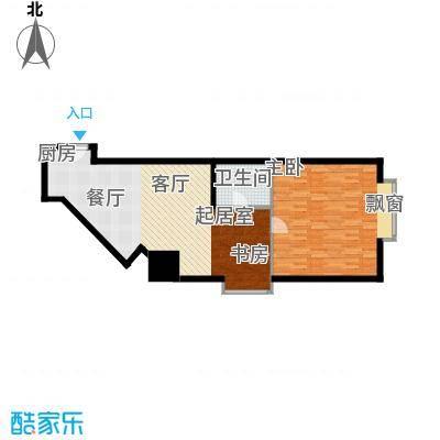 闽东国际城78.00㎡中天三号楼G户面积7800m户型