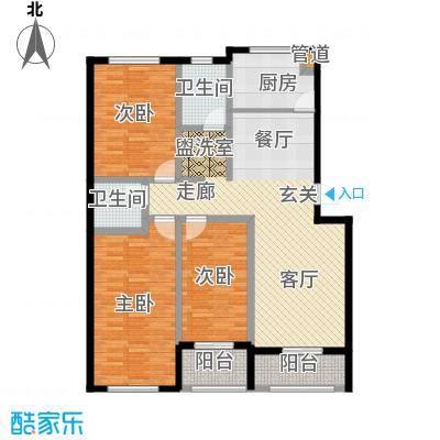 龙山花苑120.00㎡3居室面积12000m户型