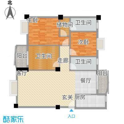 金源华庭137.48㎡面积13748m户型