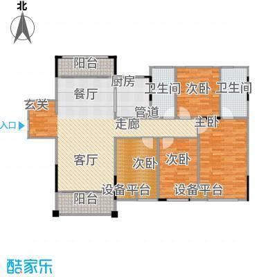 佛奥俊贤雅居134.65㎡18号楼面积13465m户型