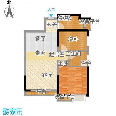 荔城公馆88.20㎡三期高层标准层Q2户型