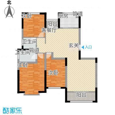 金厦龙第新城135.00㎡1、5、6、7号楼标准层A1户型
