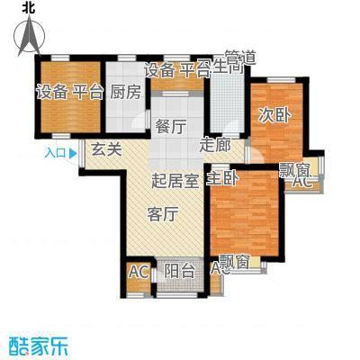 钱隆学府89.83㎡二期高层25号楼标准层L户型