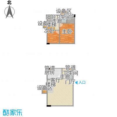 湘隆时代大公馆88.35㎡c4楼2009面积8835m户型