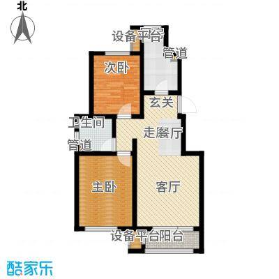 亚泰澜公馆90.00㎡洋房标准层YA-2户型