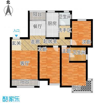天房郦堂121.00㎡9、10、12、16号楼标准层户型
