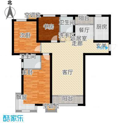 天房郦堂130.14㎡20号楼标准层D户型