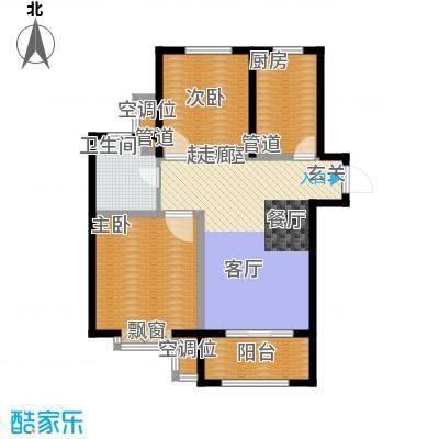 君悦花苑93.42㎡一期高层标准层B3户型