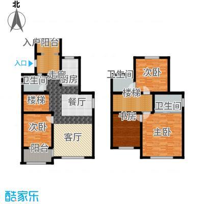 翡翠蓝湾167.24㎡小高层5号楼标准层户型