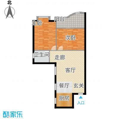 东方江景园97.21㎡面积9721m户型