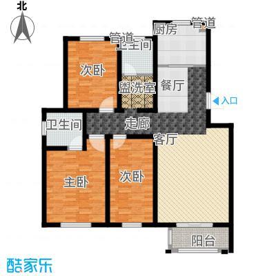 翡翠蓝湾119.69㎡洋房4、7、8、9号楼标准层户型