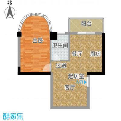 金榜名苑61.23㎡面积6123m户型