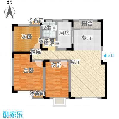 宜禾红橡公园110.00㎡洋房顶层ZT户型
