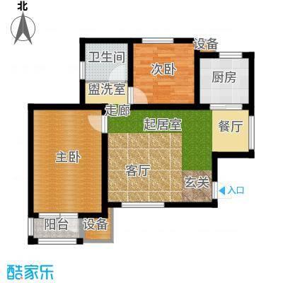 新梅江雅境新枫尚93.24㎡高层标准层G1户型