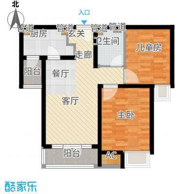 碧桂园滨海城91.00㎡小高层标准层J410B户型