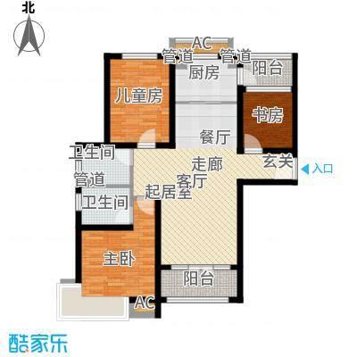 碧桂园滨海城120.00㎡小高层标准层J409A户型