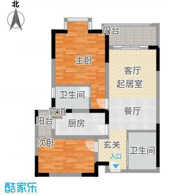 闽东国际城89.00㎡4#楼5-18层E2面积8900m户型