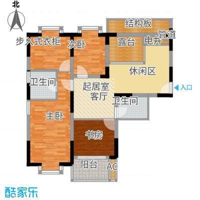 闽东国际城88.00㎡二号楼面积8800m户型