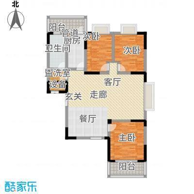 旺东盛园126.00㎡3居室面积12600m户型