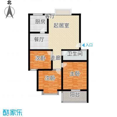 舜馨佳园124.00㎡3居室面积12400m户型