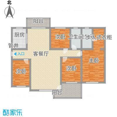 西十里河单位宿舍4居室户型