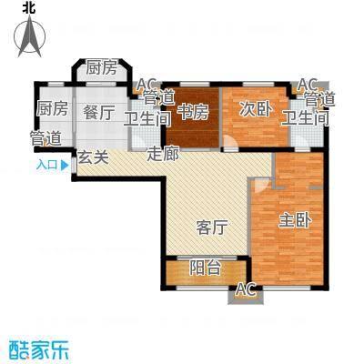 山岭丽城126.00㎡3居室面积12600m户型