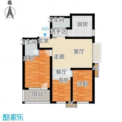 伟东君庭105.00㎡A(二期)面积10500m户型