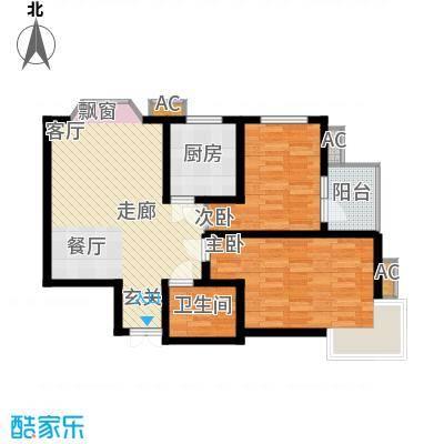伟东君庭95.00㎡B(二期)面积9500m户型