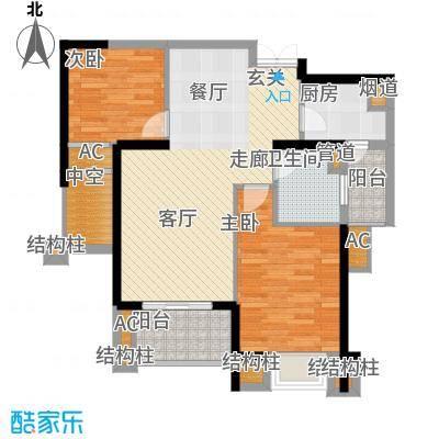 融侨锦江89.00㎡1号楼2F-1面积8900m户型