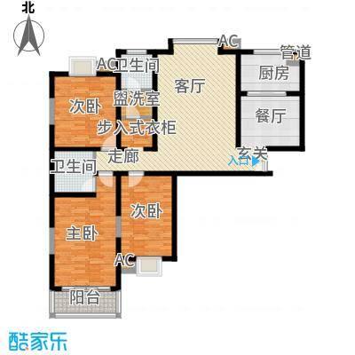 中天汇丽华城155.46㎡A42面积15546m户型