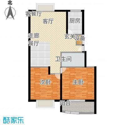 聚鑫旺园105.00㎡2居室面积10500m户型