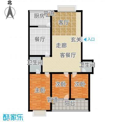 红园小区171.00㎡3居室面积17100m户型